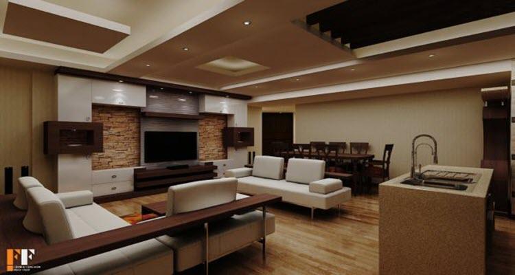 دیوارهای دکوراسیون داخلی خانه های 60 متری