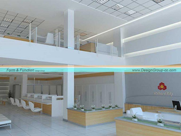 پروژه طراحی داخلی اداری بانک ملت شعبه کلاهدوز