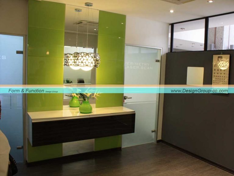 طراحی داخلی کلینیک چشم پزشکی سپهر پاسداران