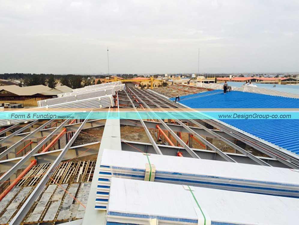 پروژه ساخت کارخانه شرکت گلدشت نوین