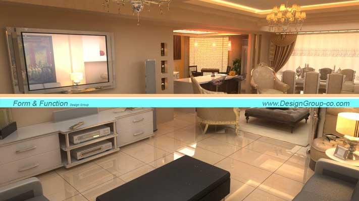 پروژه طراحی داخلی واحد مسکونی