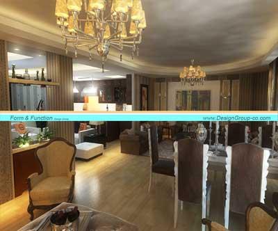 پروژه بازسازی و طراحی داخلی مسکونی مرزداران سپهر ۶