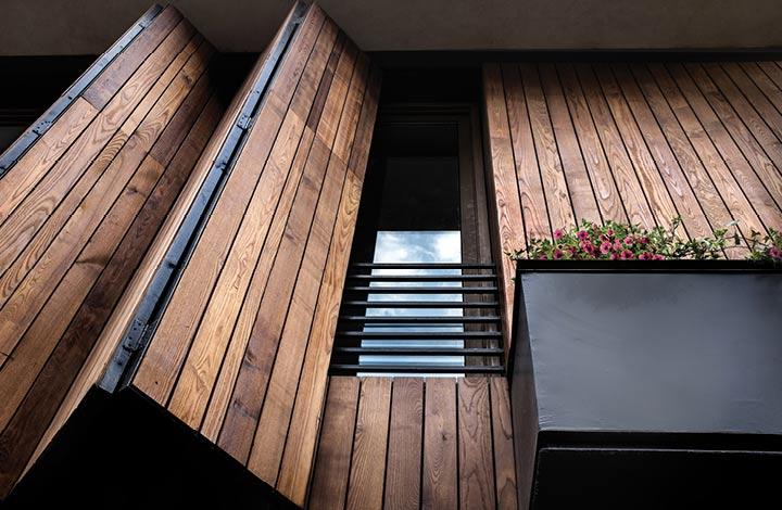 دکوراسیون و طراحی نما با چوب ترموود