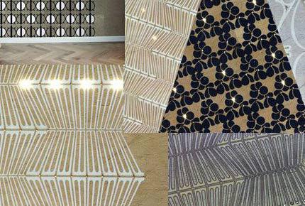 طراحی داخلی با کاغذ دیواری های نورانی