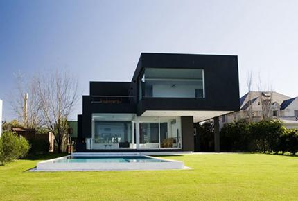 طراحی 5 نمای ساختمان با رنگ سیاه