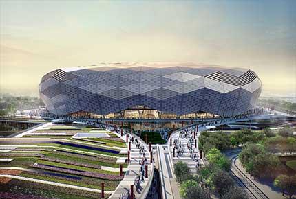 طراحی و بازسازی ساختمان ورزشی قطر