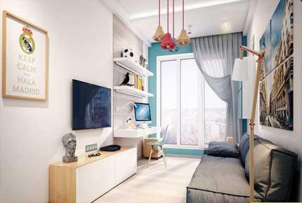 طراحی داخلی و دکوراسیون اتاق نوجوان