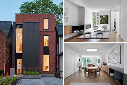طراحی آپارتمان با نمای آجری و دکوراسیون داخلی مدرن