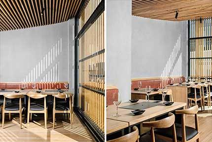 طراحی نمای رستوران