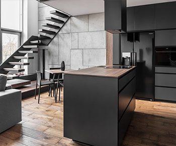 طراحی داخلی آپارتمان مسکونی مدرن دوبلکس