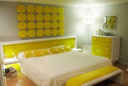 رنگ زرد در طراحی اتاق