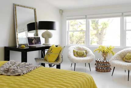 رنگ زرد در طراحی داخلی