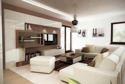 طراحی داخلی تی وی روم