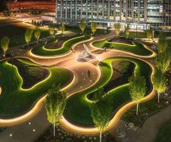طراحی داخلی حیاط