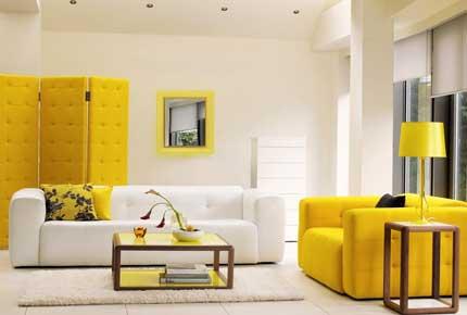 رنگ زرد در طراحی پذیرایی