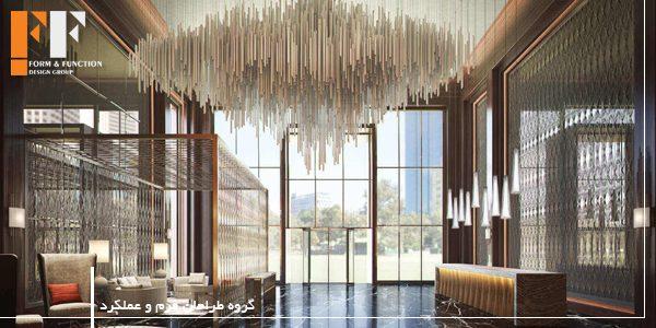 دکوراسیون داخلی لابی هتل