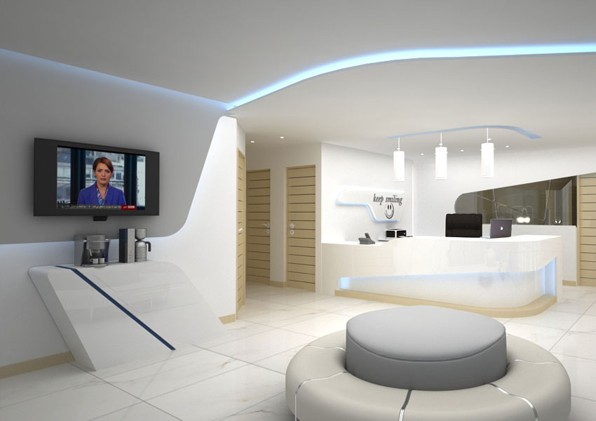 فضای مطب دکوراسیون داخلی دندانپزشکی