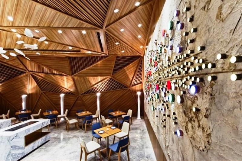 زیبایی دکوراسیون داخلی رستوران مدرن