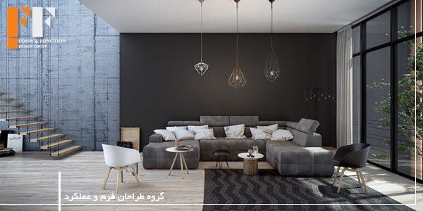 رنگ مشکی در طراحی داخلی نشیمن