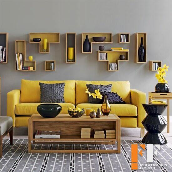 دکوراسیون داخلی با رنگ طوسی سبکی مدرن