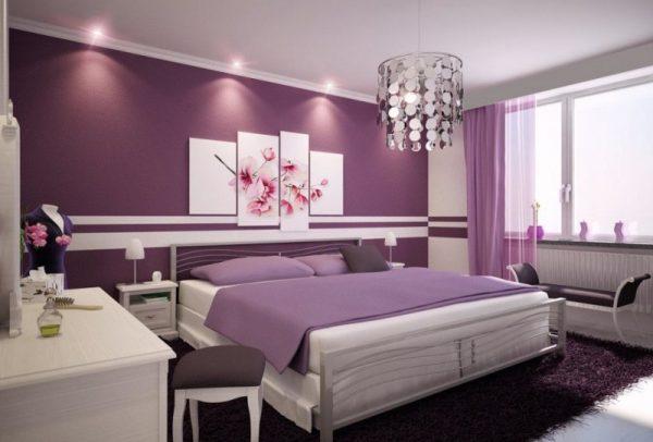 اتاق خواب در دکوراسیون داخلی اپارتمان 100 متری