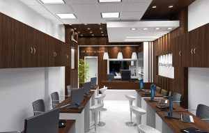 بازسازی داخلی دفتر املاک