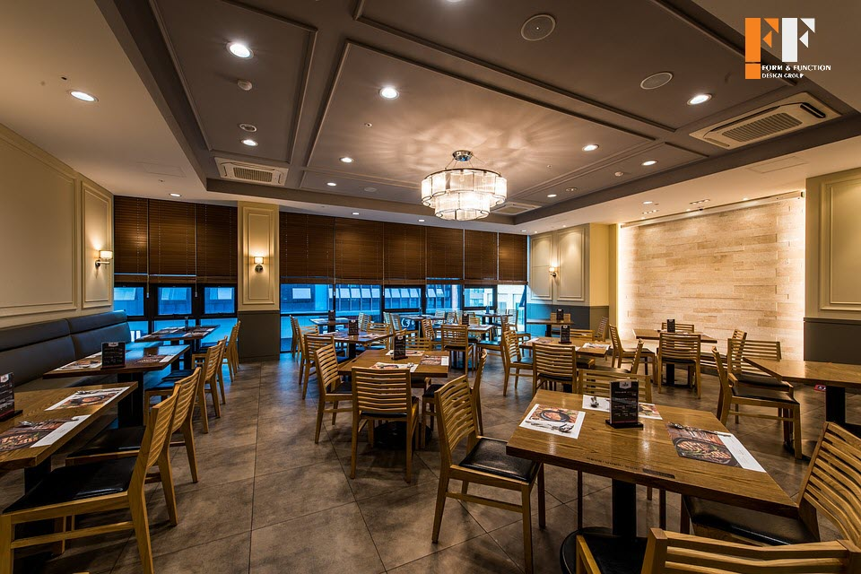 بازسازی داخلی رستوران مدرن
