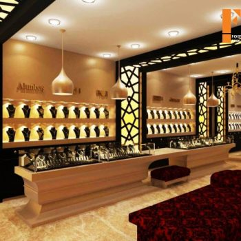 طراحی داخلی جواهر فروشی