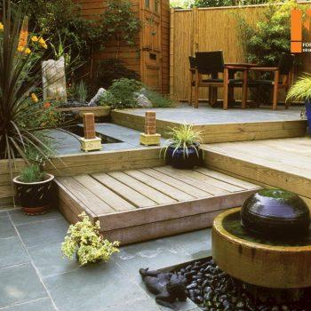 طراحی داخلی حیاط کوچک