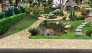 طراحی داخلی حیاط ویلا